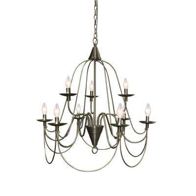 Blakely 9-light Brushed Nickel Chandelier