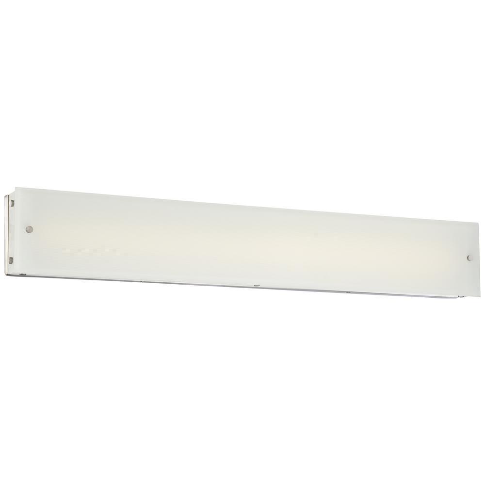 Button 38-Watt Brushed Nickel Integrated LED Bath Light