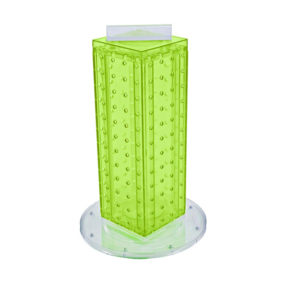 Azar Displays 12 in. H x 4 in. W Pegboard Tower with 16-Gift Pockets in Green