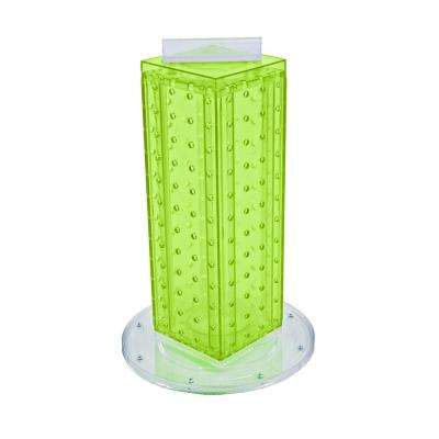 12 in. H x 4 in. W Pegboard Tower with 16-Gift Pockets in Green