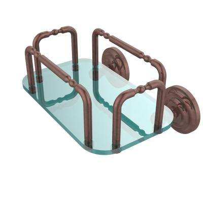 Que New Wall Mounted Guest Towel Holder in Antique Copper