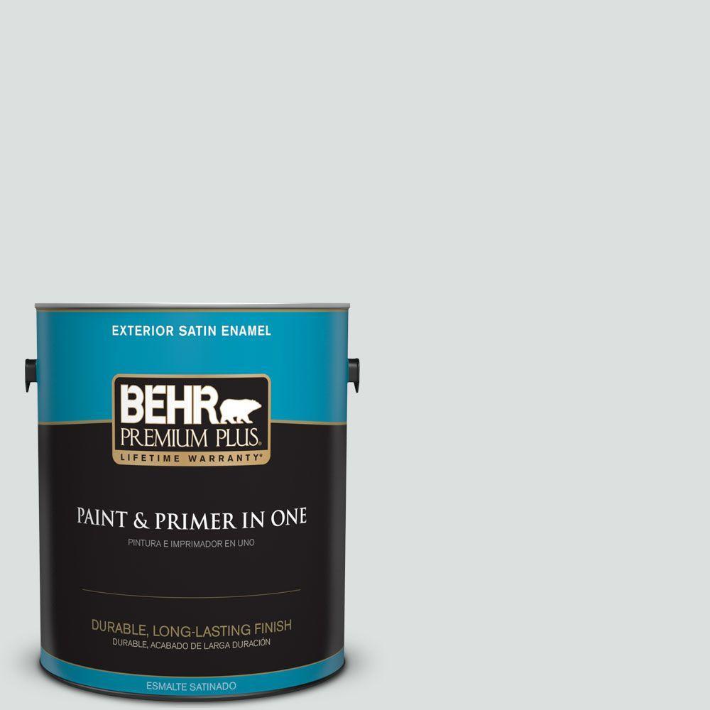 BEHR Premium Plus 1-gal. #BL-W11 Tinsmith Satin Enamel Exterior Paint