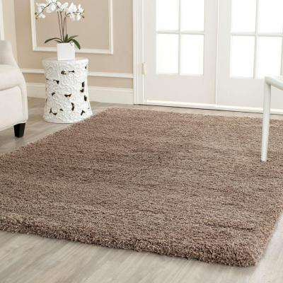 California Shag Taupe 11 ft. x 15 ft. Area Rug