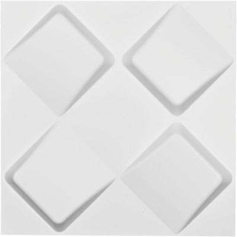 1 in. x 19-5/8 in. x 19-5/8 in. White PVC Bradley EnduraWall Decorative 3D Wall Panel