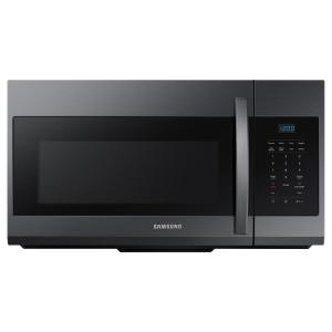 30 in. W 1.7 cu. ft. Over the Range Microwave in Fingerprint Resistant Black Stainless Steel