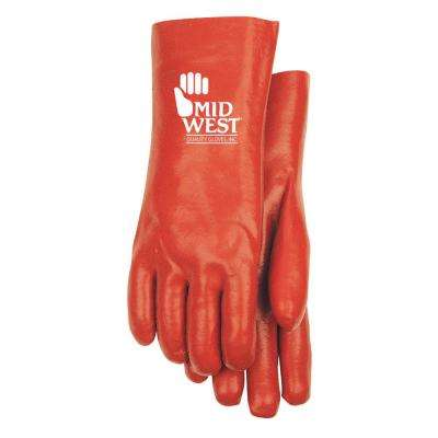 Red PVC Coated ChemicaLarge Glove