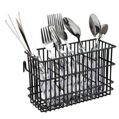 Wire Cutlery Holder in Black