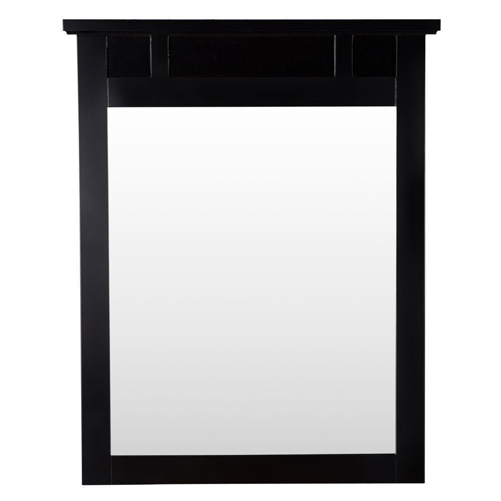 Haven 31 in. L x 25 in. W Framed Wall Mirror in Espresso