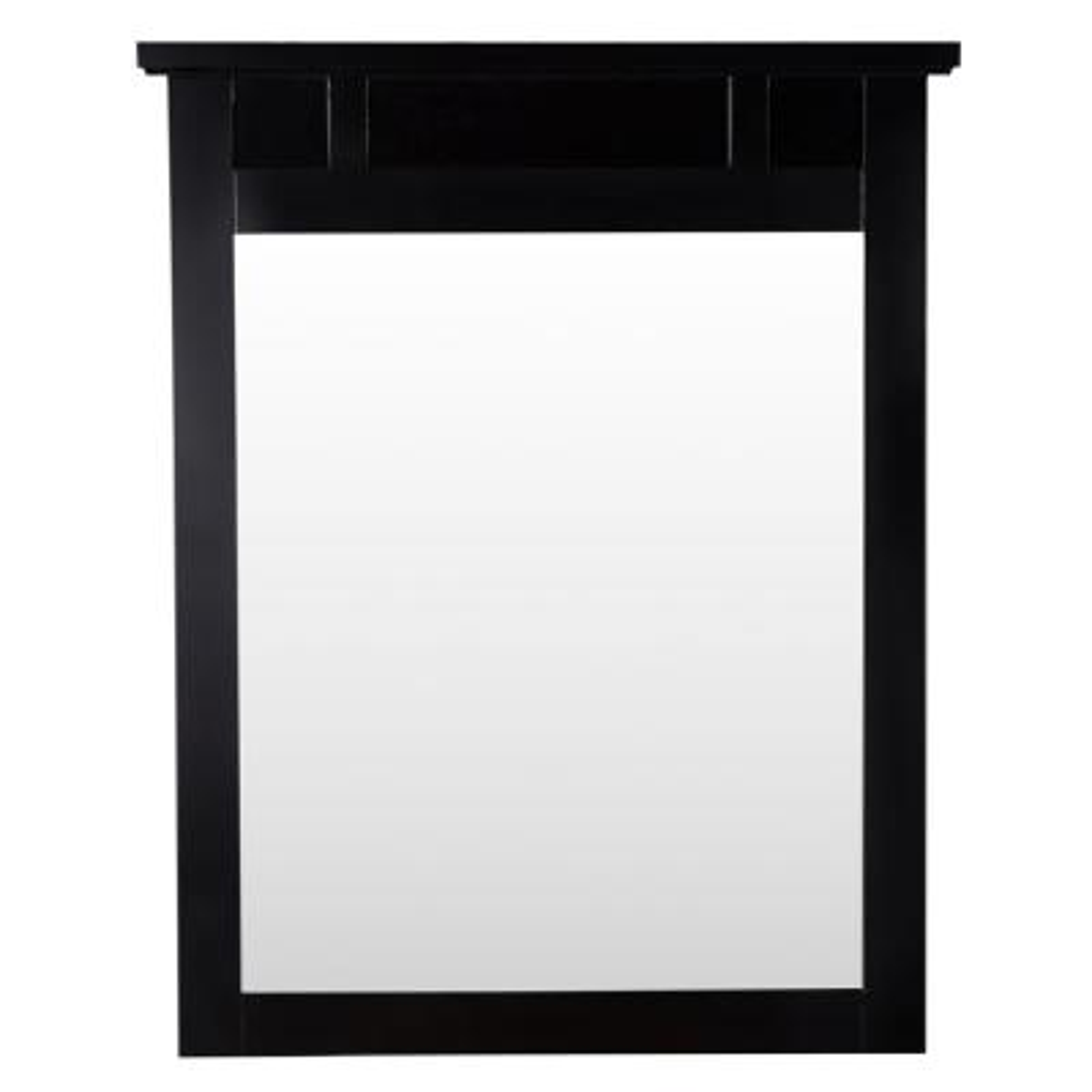 25 in. W x 31 in. H Framed Rectangular  Bathroom Vanity Mirror in Espresso