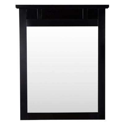 Haven 31 in. L x 25 in. W Framed Wall Mirror in Espresso