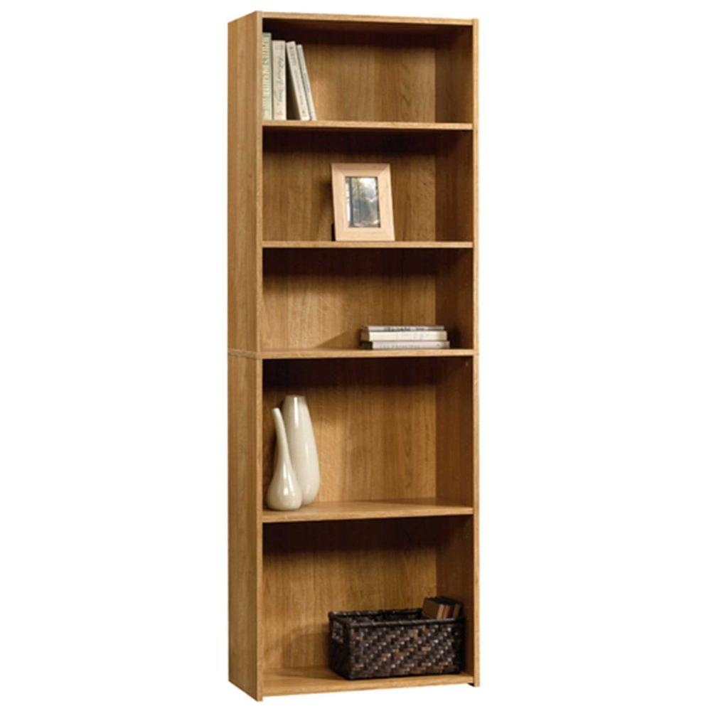 Sauder Beginnings Highland Oak Open Bookcase 413324 The Home Depot