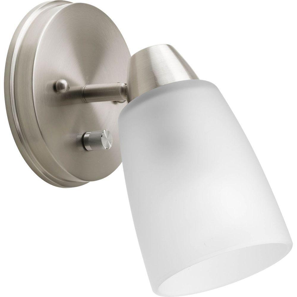 Progress Lighting Wisten Collection 1-Light Brushed Nickel SpotLight Fixture