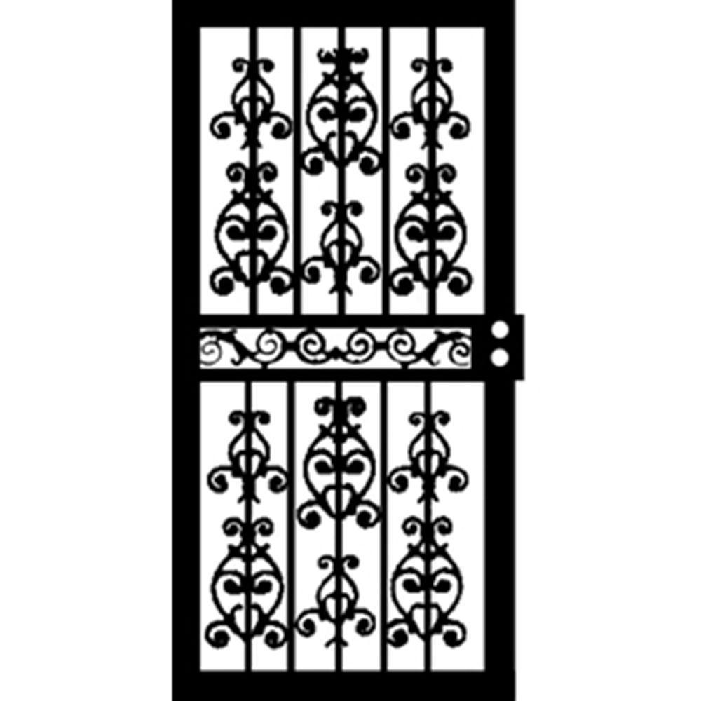 Grisham 36 in. x 80 in. 415 Series Black Idaho Security Door