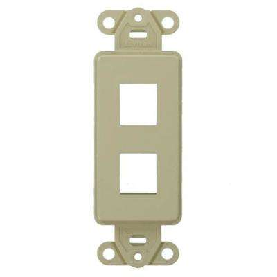1-Gang Decora QuickPort 2-Port Insert in Ivory