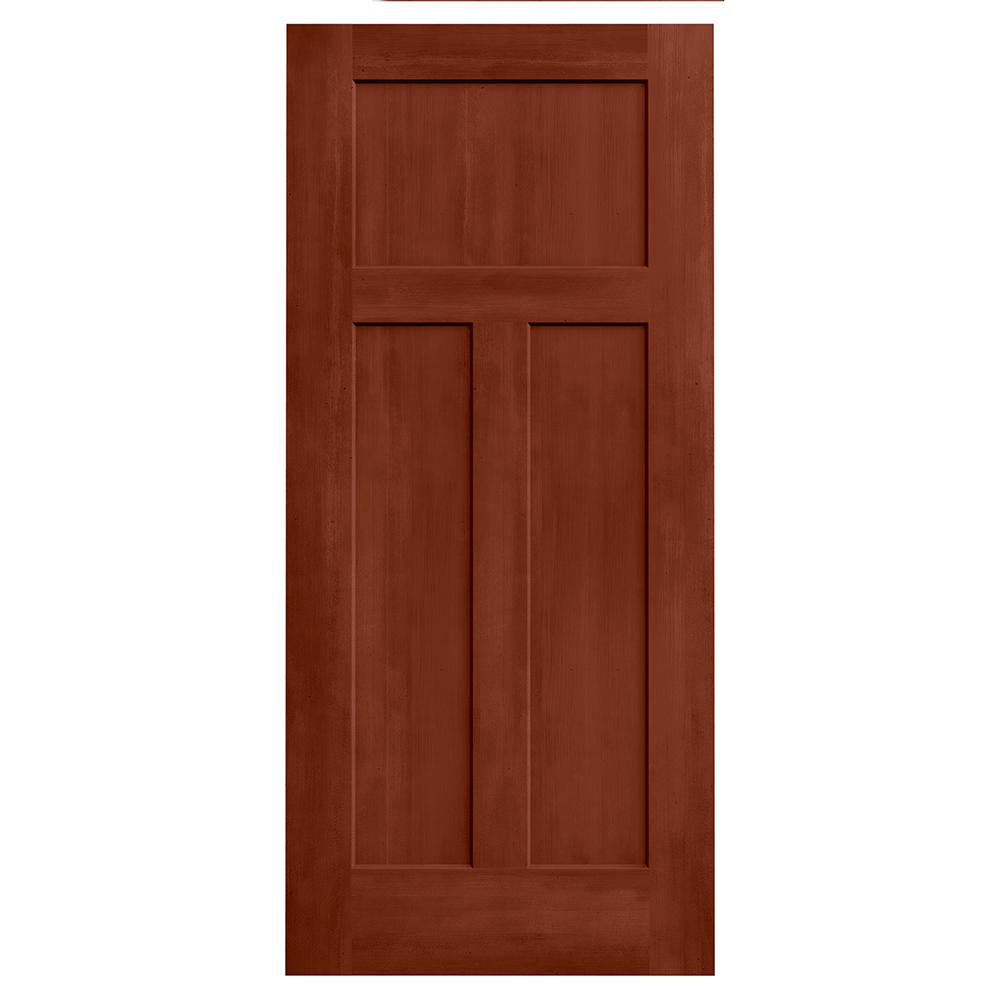 JELD WEN 36 In X 80 Craftsman Amaretto Stain Molded