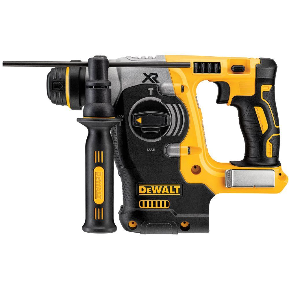 DEWALT 20-Volt MAX Lithium-Ion Cordless 1 in. SDS-Plus Brushless L-Shape Concrete & Masonry Rotary Hammer (Tool-Only)