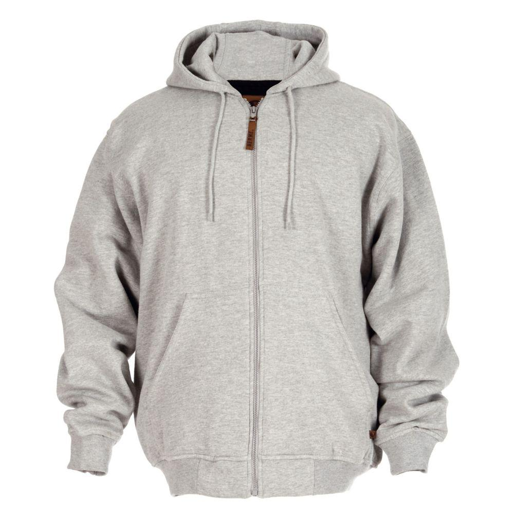 Berne Men's 4 XL Grey Cotton and Polyester Regular Thermal Lined Hooded Sweatshirt