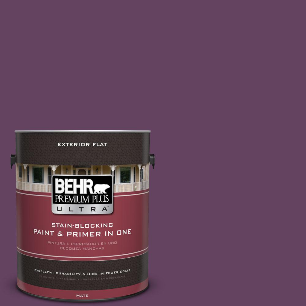 1-gal. #BIC-36 Grape Fizz Flat Exterior Paint