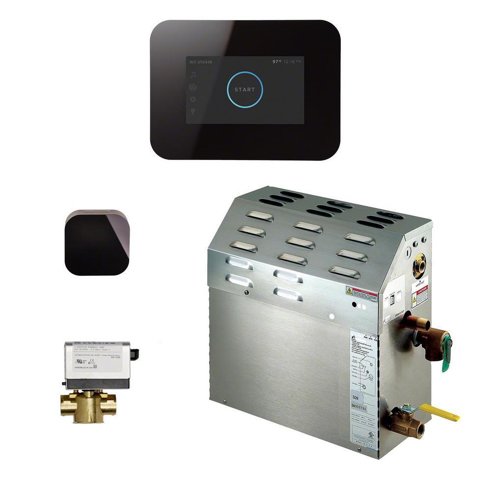 7.5kW Steam Bath Generator with iSteam3 AutoFlush Package in Black