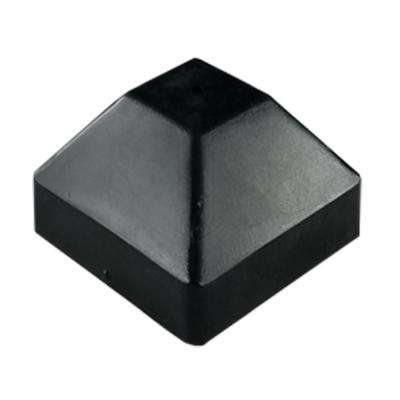 4 in. x 6 in. Black Bevel Post Cap (2-Pack)