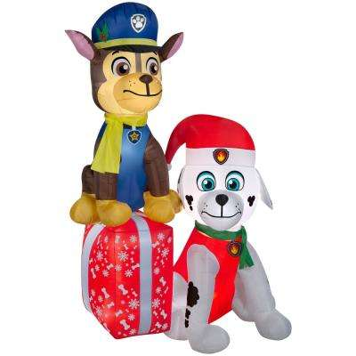7 ft. H. Airblown Paw Patrol on Presents Scene
