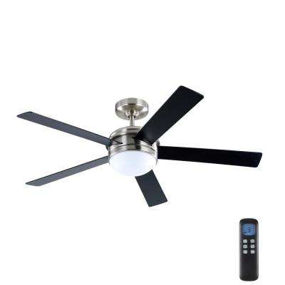Audrino 56 in. Integrated LED Indoor Brushed Nickel DC Ceiling Fan with Light Kit and Remote Control