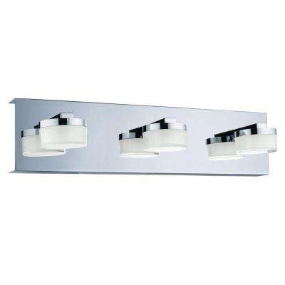 Romendo 60-Watt Chrome Integrated LED Bath Light