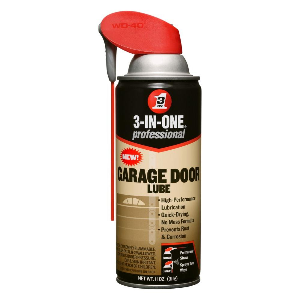 Wd 40 3 in 1 11 oz garage door lubricant 100584 the home depot garage door lubricant rubansaba
