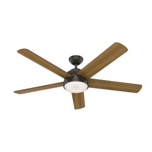 Romulus 60 in. Integrated LED Indoor Noble Bronze Smart Ceiling Fan with Light Kit and Remote