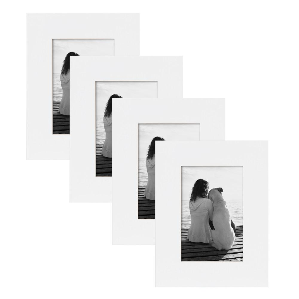 Museum 4 in. x 6 in. White Picture Frame (Set of