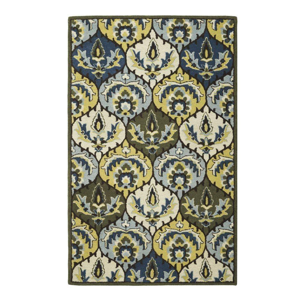 Home Decorators Collection Ester Yellow 5 ft. 3 in. x 8 ft. 3 in. Area Rug