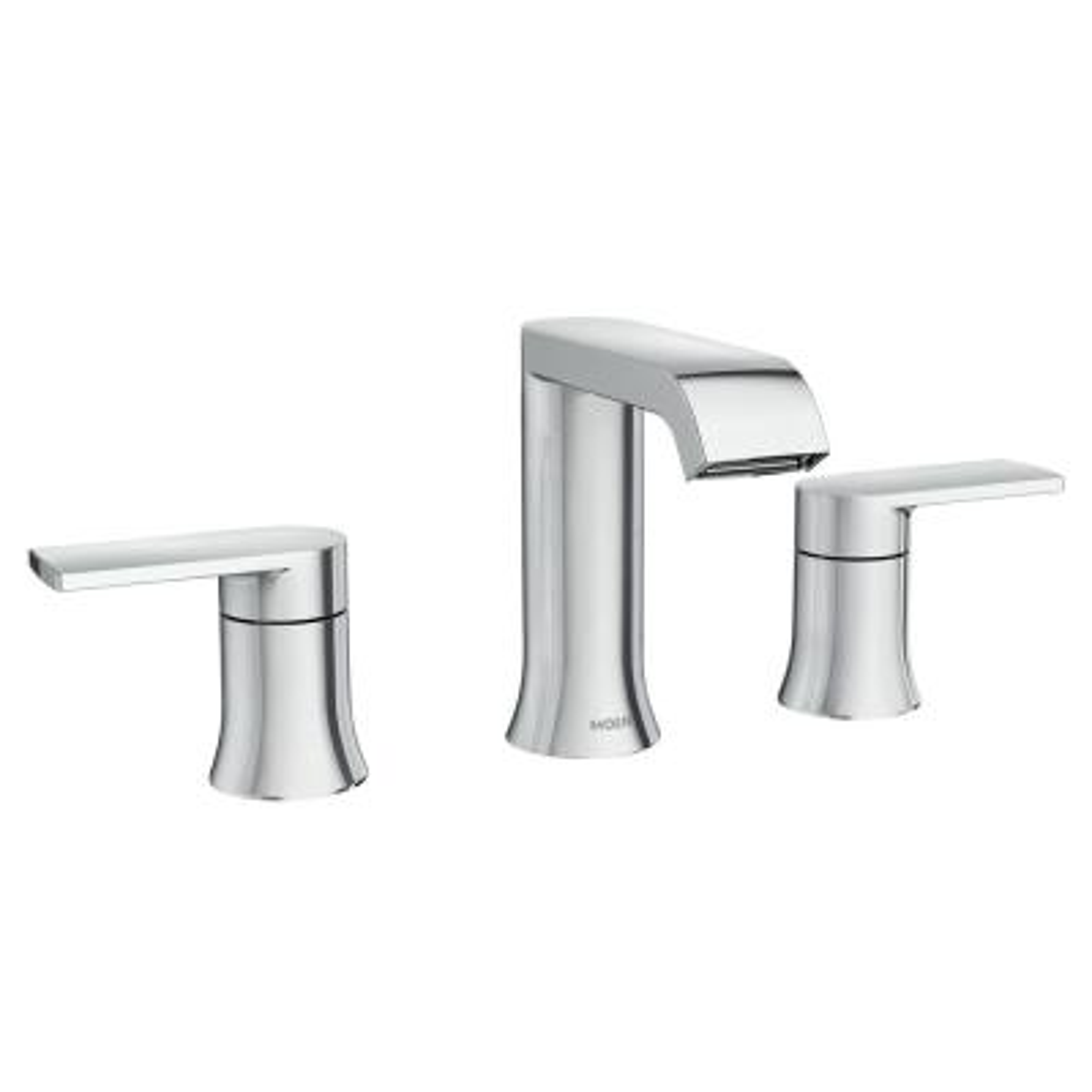 Genta 8 in. Widespread 2-Handle Bathroom Faucet in Chrome