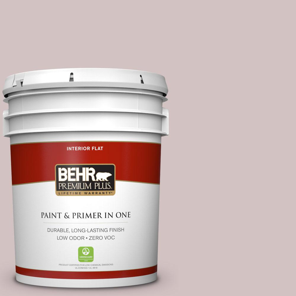 BEHR Premium Plus 5-gal. #120E-2 French Taupe Zero VOC Flat Interior Paint