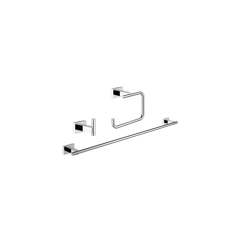 Essentials Cube City 3 Piece Bath Hardware Set In StarLight Chrome