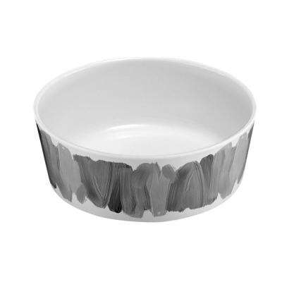 Water Color Brush Stroke Medium Pet Bowl