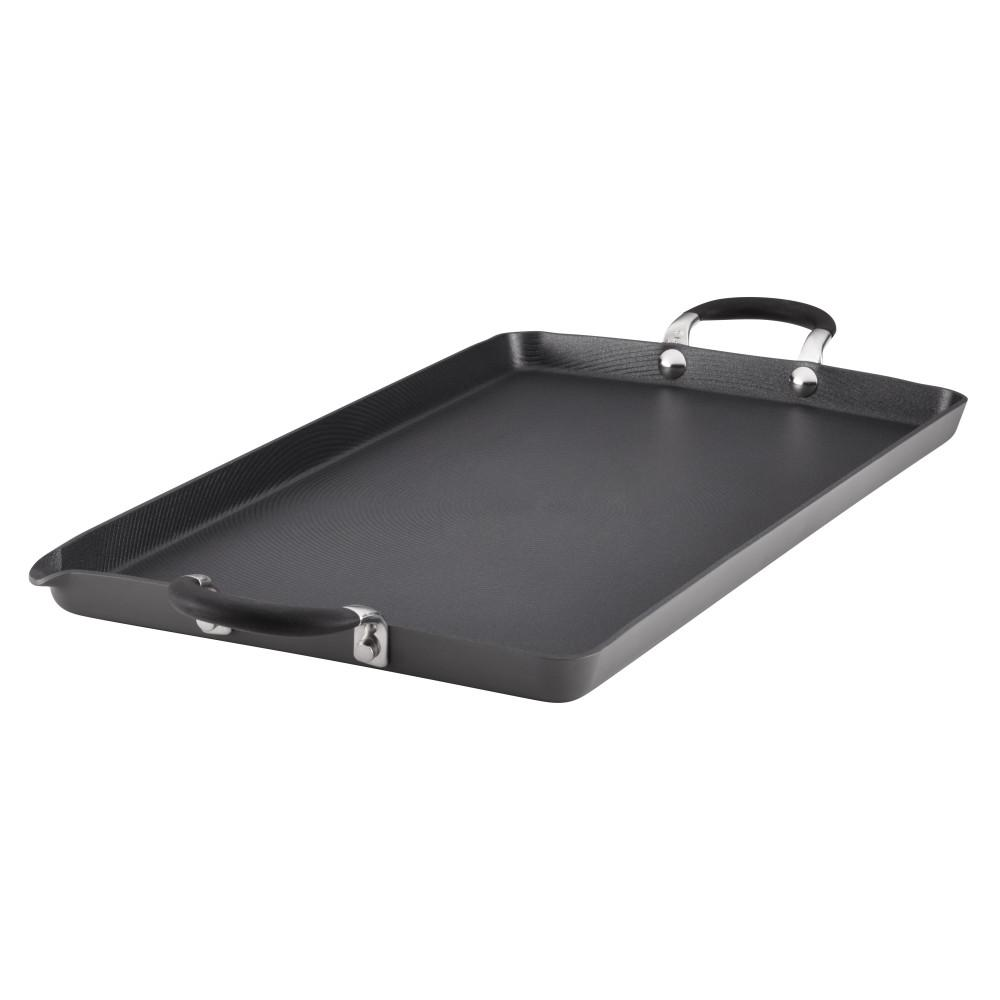 Momentum Hard-Anodized Nonstick 18 in. x 10 in. Double Burner Griddle,
