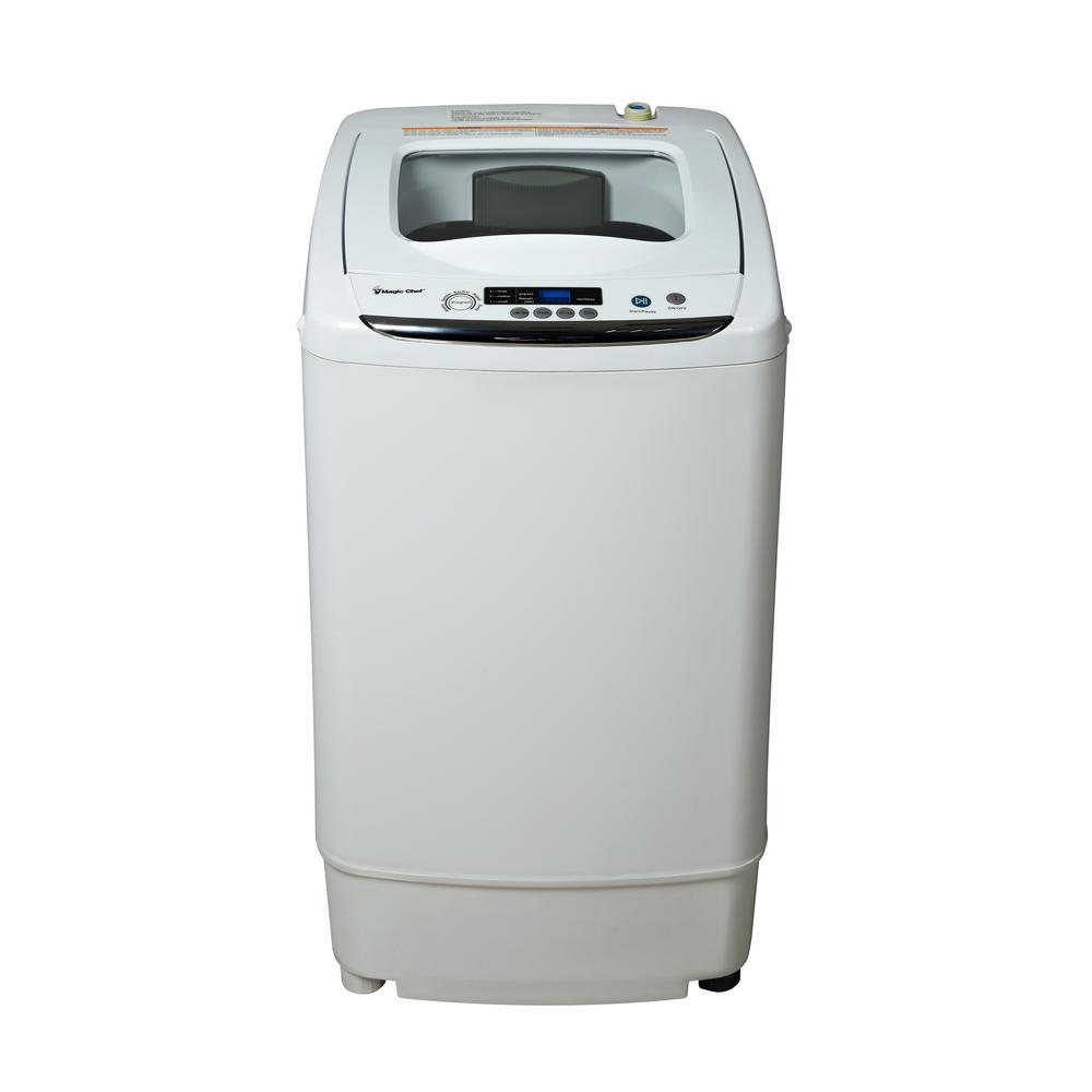 Compact 0.9 cu ft. Portable Top Load Washer in White