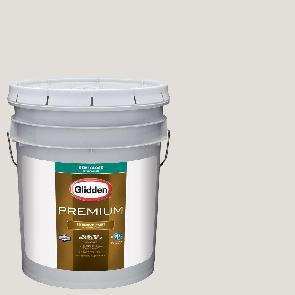 Glidden Premium 5-gal. #HDGWN22U Light Pelican Grey Semi-Gloss ...