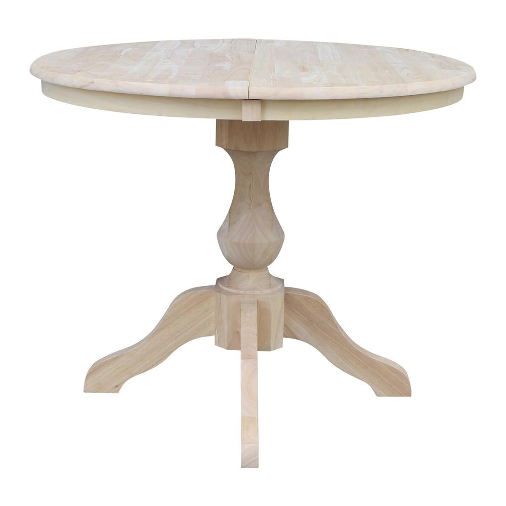 ad0c5b6d5335 International Concepts Sophia Unfinished Solid Wood Oval Pedestal ...