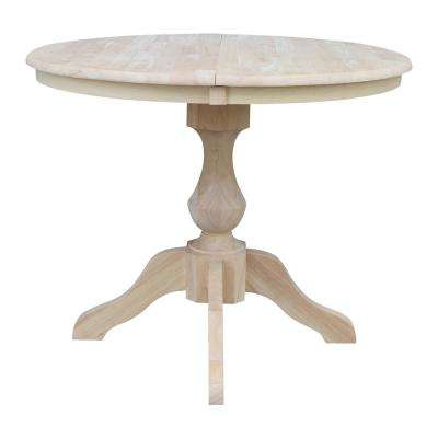 Sophia Unfinished Solid Wood Oval Pedestal Table