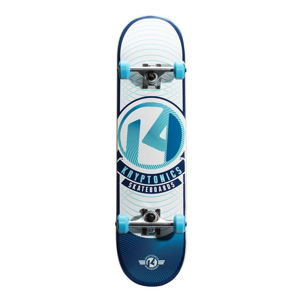 39dfe76382 Kryptonics 31 in. Blue Rays POP Complete Skateboard-163686 - The ...