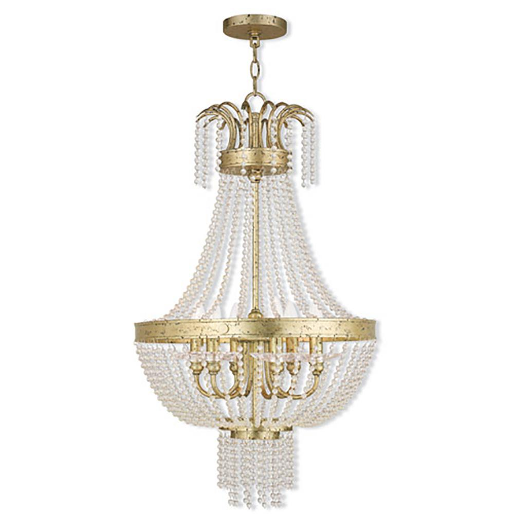 Livex Lighting Valentina 6-Light Winter Gold Pendant