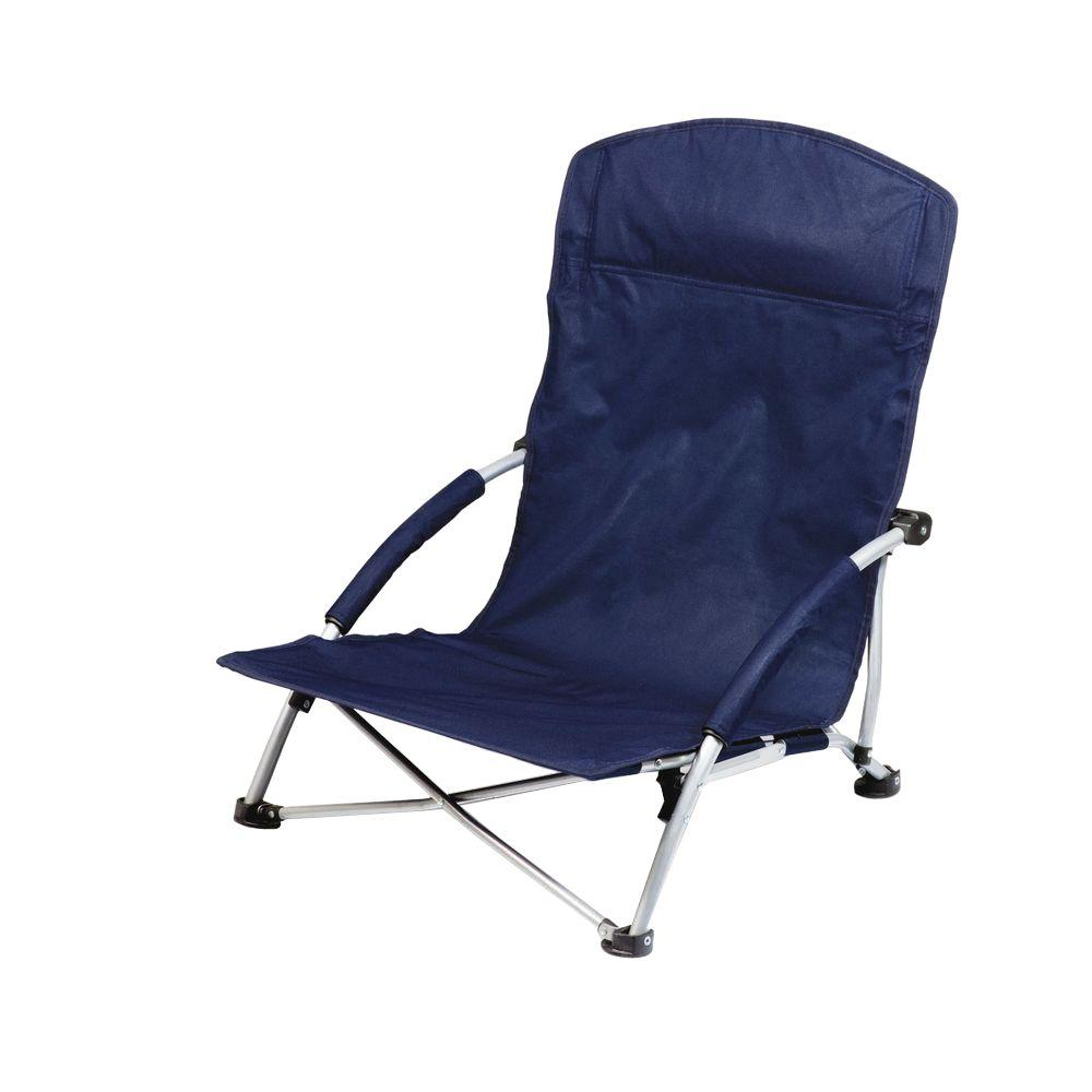 Picnic Time Navy Tranquility Portable Beach Patio Chair