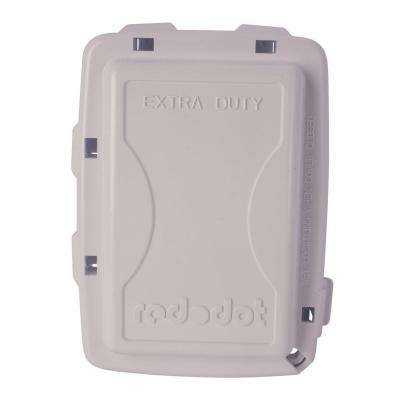 1-Gang Extra Duty Non-Metallic While-In-Use Weatherproof Horizontal/Vertical Receptacle Cover with Wasp Guard - White