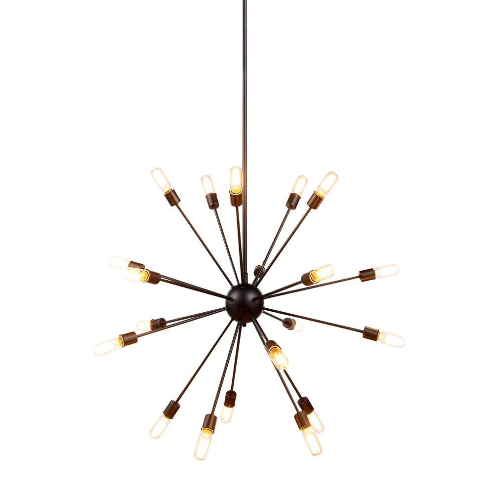 Elegant Lighting Cork 20-Light Vintage Steel Pendant
