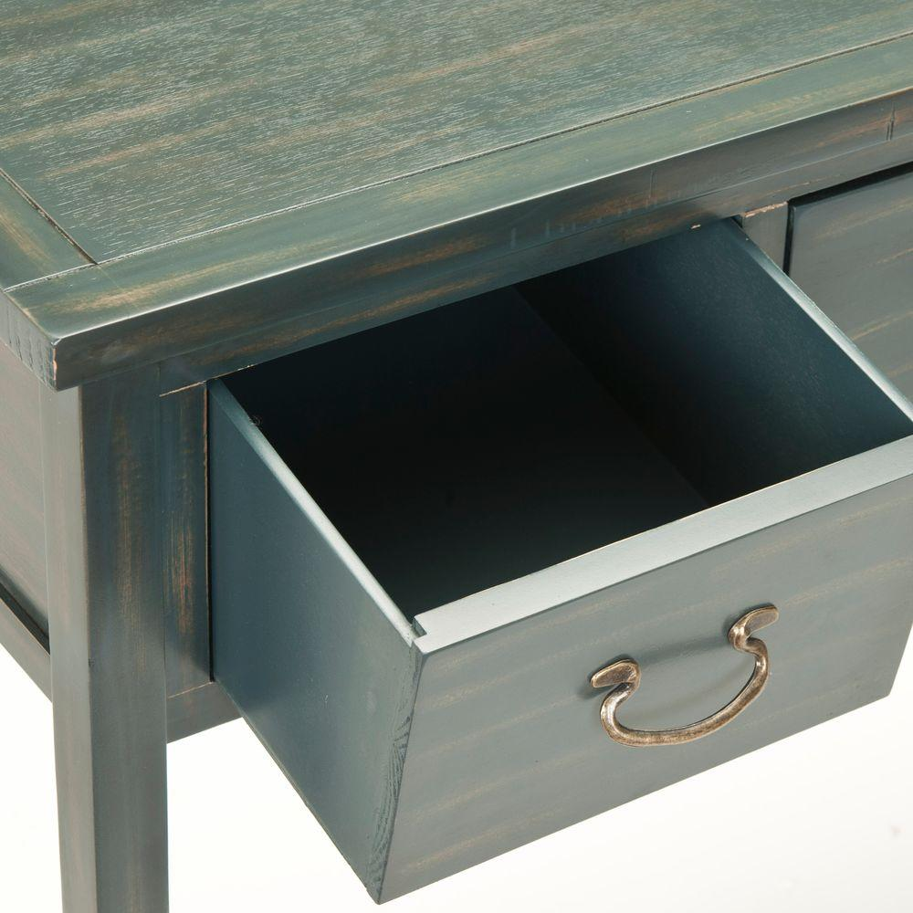 outlet store e4de1 2db90 Safavieh Cindy Steel Teal Storage Console Table AMH6568E ...