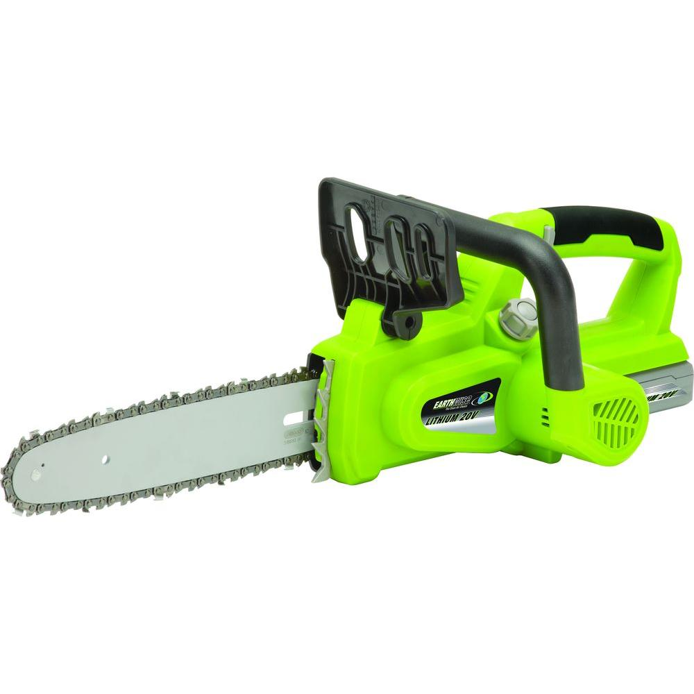 Earthwise 10 in 20 volt lithium ion cordless chainsaw lcs32010 earthwise 10 in 20 volt lithium ion cordless chainsaw greentooth