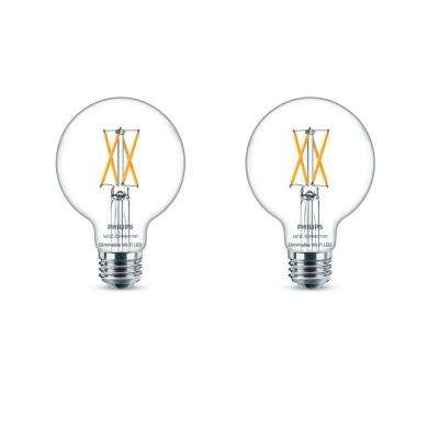 Soft White G25 LED 40-Watt Equivalent Dimmable Smart Wi-Fi Wiz Connected Wireless Light Bulb (2-Pack)