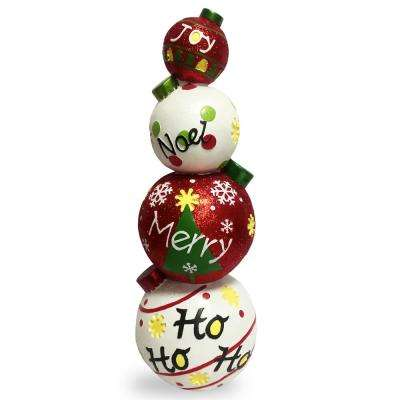 33 in. Stacked Christmas Ornaments