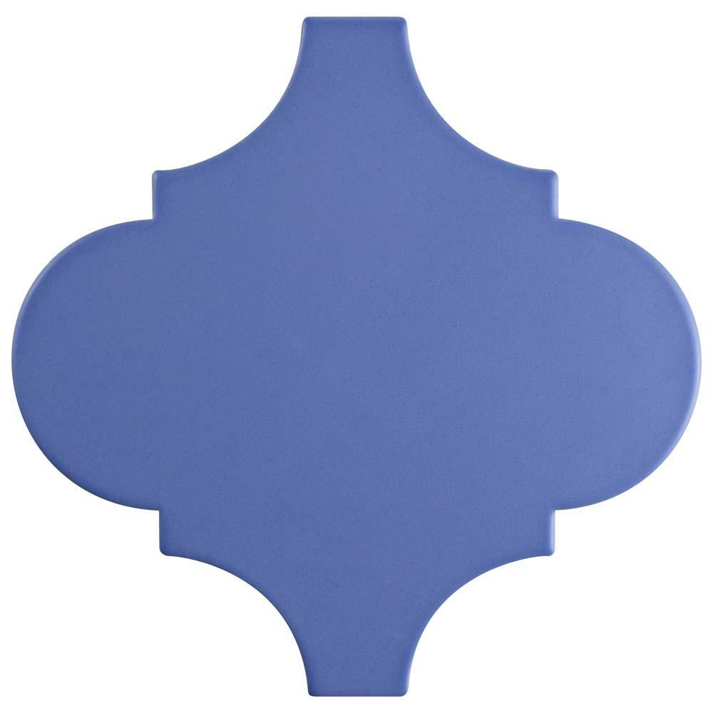 Merola Tile Provenzale Lantern Blue 8 in. x 8 in. Porcelain Floor ...